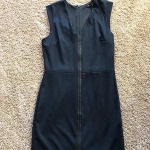 Banana Republic Navy dress leather accent